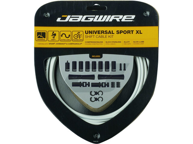 Jagwire Sport XL Schaltzugset 4000mm white